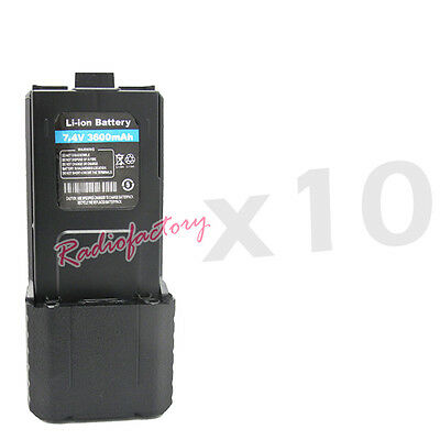 10x Ultra High Battery Capacity 7.4V 3600mAH Dual Band UV-5R UV-5R plus UV-5R+