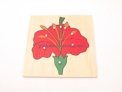 Pinkmontessori Botany Material - Flower Puzzle
