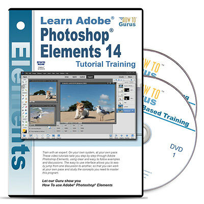 New Adobe Photoshop Elements 14 tutorial training 16 hours 233 videos 2 DVDs