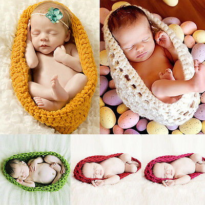 Newborn Baby Toddler Crochet Knit Costume Photo Photography Prop Outfit Hat Set