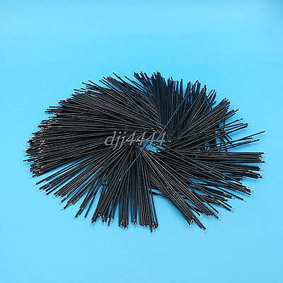 1000Pcs Black 10cm 26AWG 1007 Double End Tinned Jumper Wire Connectors