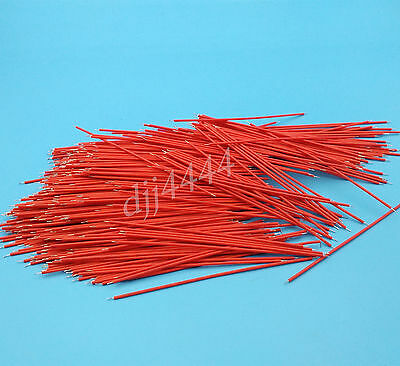 1000Pcs Red 10cm 26AWG 1007 Double End Tinned Jumper Wire PCB Connectors