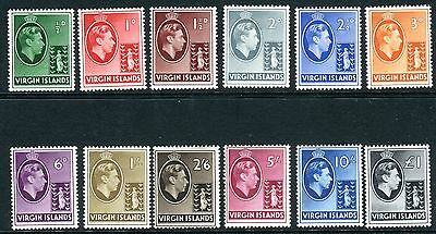 BRITISH VIRGIN ISLANDS-1938-47  A fine mounted mint example Sg 110a-121 V7538W