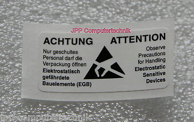 Made in Germany 30 St LOT Sticker Caution Electrostatic Sensitive Devices