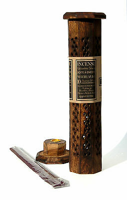 Wooden Incense Stick/Cone Burner/Tower Holder/ Ash Catcher