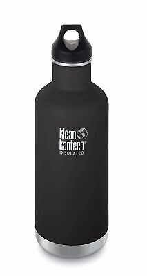 Klean Kanteen - Classsic 910ml/32oz Vaccum Insulated Shale Black - Loop Cap
