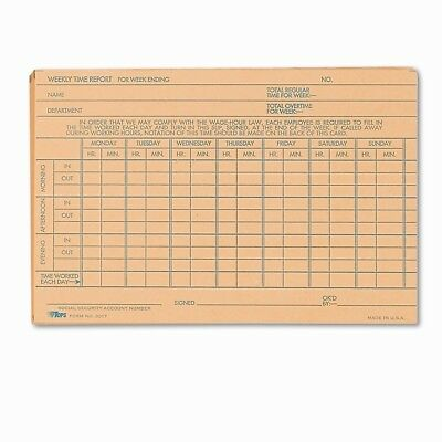 Tops Business Forms Employee Time Report Card, 100/Pack