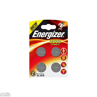 Energizer CR2032 Lithium 3V Coin Batteries - Pack of 4