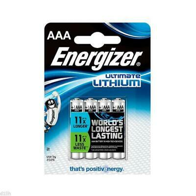 Energizer 629612 Ultimate Lithium AAA Batteries - Carded 4