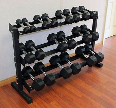 New Gym Quality Rubber Hex Exercise Dumbbell Weight Set 5 lbs to 50 lbs Pairs