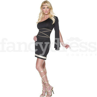 Sexy Ladies Roman Toga Ancient Womens Greek Goddess Costume Fancy Dress Outfit