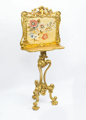 Antique Victorian Giltwood Fire Screen c.1850
