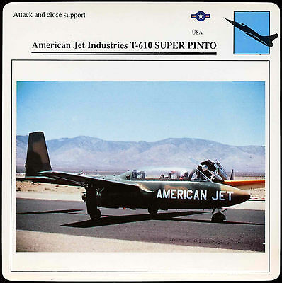 Edito Card D1 075 51.09 American Jet Industries T-610 Super Pinto Aircraft