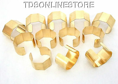 "5 Sided Brass Bracelet Cuff Blanks For Jewelry Making 1.5"" Pkg Of 12"