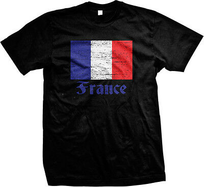France Distressed Country Flag - French Pride  Mens T-shirt