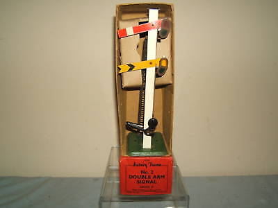 "VINTAGE HORNBY ""O""  MODEL No.2 ""DOUBLE"" ARM  SIGNAL  VN MIB"