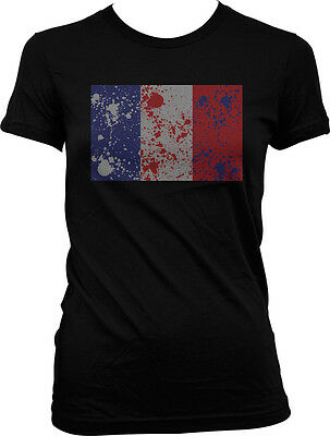 France Distressed Faded Country Flag - French Pride  Juniors T-shirt