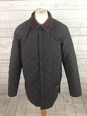 Mens Barbour 'Eskdale' Quilted Jacket - XL - Brown - Good Condition