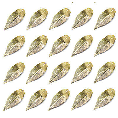 20pcs Filigree Leaf Charms Pendant Jewelry DIY Making Findings Gold