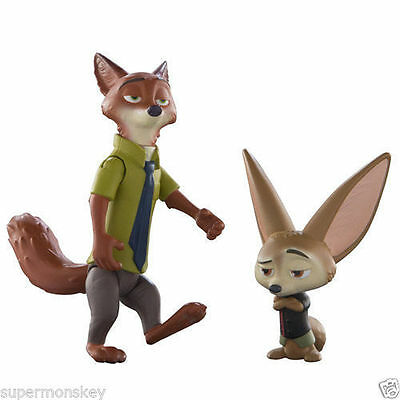 Disney Zootopia Poseable Nick & Fin 2 Figure Pack Ds70001