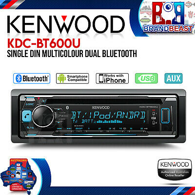 KENWOOD KDC-BT600U BLUETOOTH Head Unit with USB & Pandora