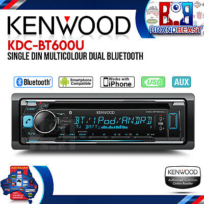 Kenwood Kdc-bt600u Cd Usb Dual Bluetooth Car Stereo Android Iphone Multi Color