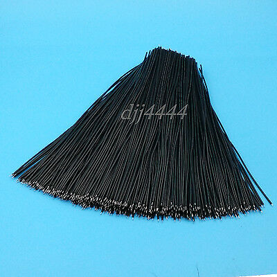 500Pcs Black 20cm Double End Tinned 24AWG Solder Jumper Wire Connector