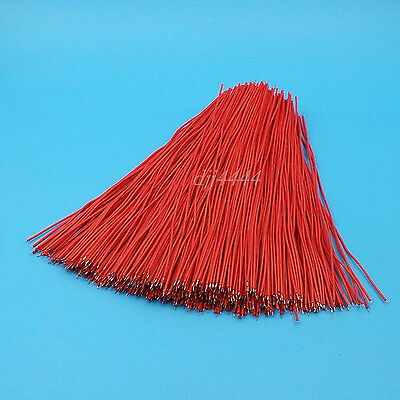 500Pcs Red 20cm Double End Tinned 24AWG Solder Jumper Wire Connector