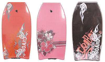 "Nalu Surf 42"" Pro XPE Slickback Bodyboard with Leash - 3 Designs"