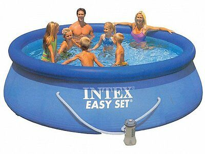 Intex 28142 Piscina Rotonda Easy Set 396X84Cm Con Pompa Filtro Piscine