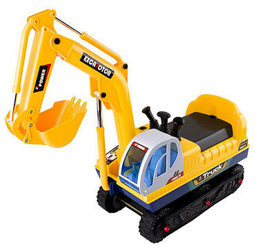deAO Electric  Ride On Digger Battery Operated Excavator Toy
