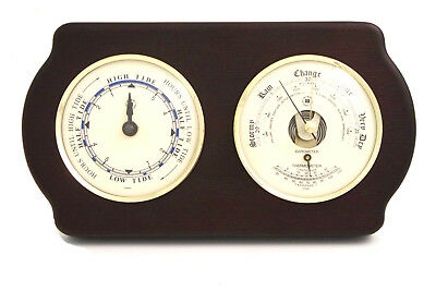 Bey-Berk Tide Wall Clock with Barometer and Thermometer