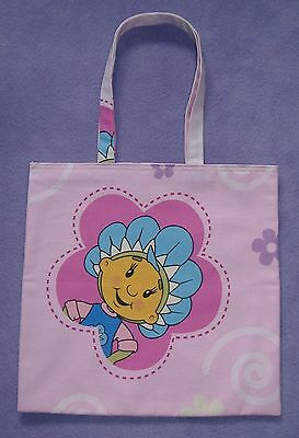 Pink Fifi and the Flowertots Childrens Cotton Shopping bag / Book Bag