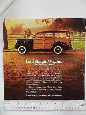 1976 Ford Station Wagons Sales Brochure, Fold Out