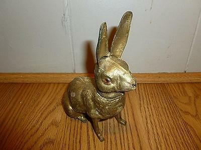 Vintage German Pressed Cardboard and Wood Easter Bunny Rabbit Candy Container-BL
