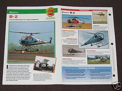 BRANTLY B-2 B2 Helicopter Photo Spec Sheet Booklet Brochure