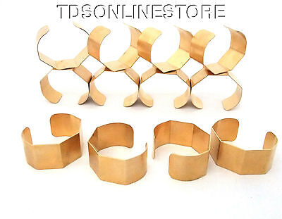 5 Sided Brass Bracelet Cuff Blanks For Jewelry Making 1 inch Pkg Of 12
