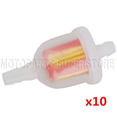 10X Gas Fuel Filter Universal for Motorcycle Dirtbike ATV Moped Scooters Go Kart