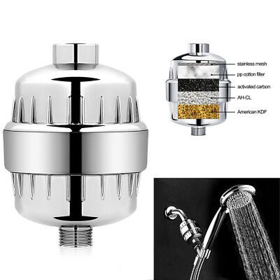 InLine Shower Hand Facuet Filter Softener Chlorine Removal Water Purifier Chrome