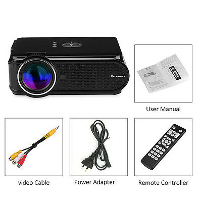 Mini Proyector Portable LED 1200 lúmenes 1080P Cine en Casa 3D HDMI VGA AV TV PC