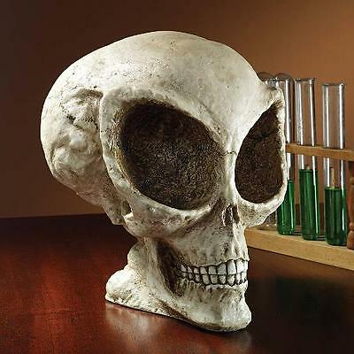 Roswell UFO Alien Skull Resin Sculpture Statue Unique Gifts Extra Terrestrial