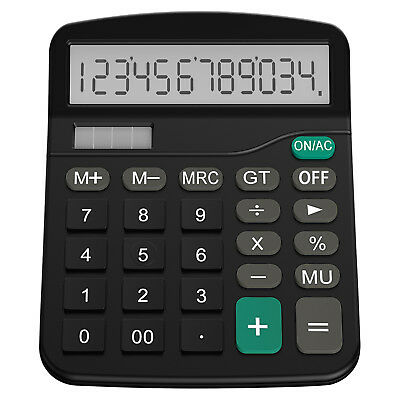 Helect Desk Calculator 12-Digit Desktop Calculator with Standard Function