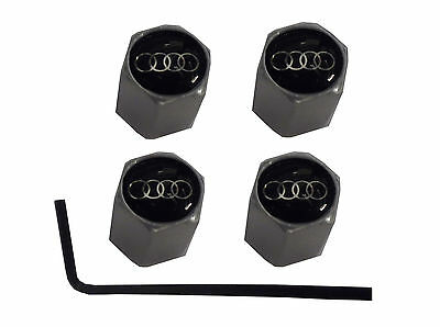 Audi Crome Valve Caps For Wheels Tyres Set Of 4 New Dust Caps