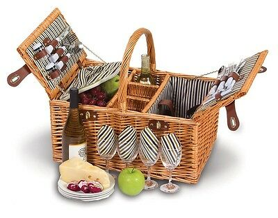 Picnic Plus Dilworth 4 Person Picnic Basket with Removable Insulated Cooler