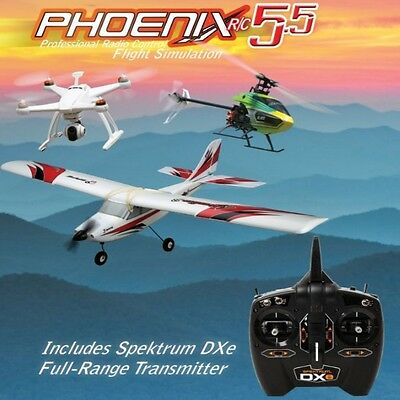 Phoenix R/C Pro Flight Simulator / New Sim V5.5 Version with DXe Transmitter