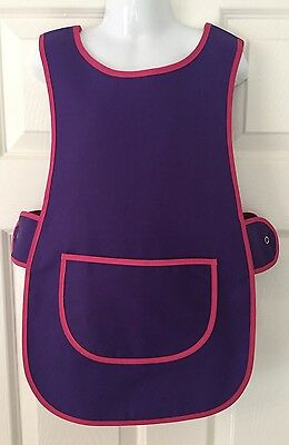 Brand New Choose Size Childrens Kids Tabard Apron Kids Purple Cooking Arts Craft