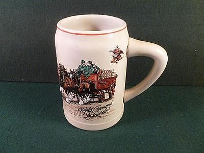 1987 Ceramarte 1st World Famous Clydesdales Budweiser Holiday Stein Mug CS74