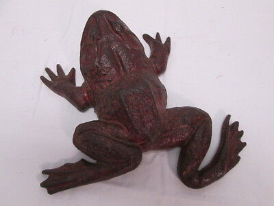 Antique Red Cast Iron Frog