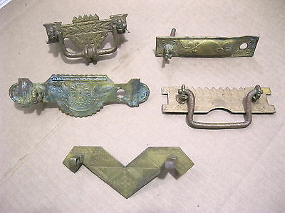 Group Of Misc. Antique Brass Drawer Pulls