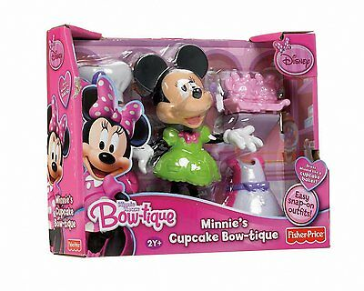 New Fisher Price Disney Minnie's Mouse Bowtique Bow Toons Cupcake Bar Free Post